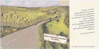 Carte postale massacre durable